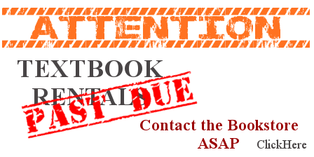 Contact Bookstore Now for Rental Returns!