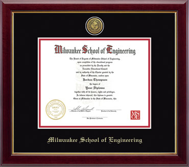 Image For Diploma Frame Gold Engraved Seal