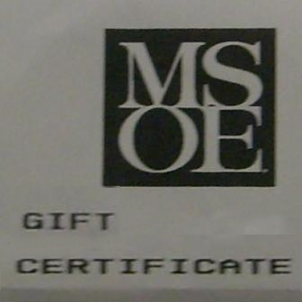 Image For MSOE GIFT CERTIFICATES