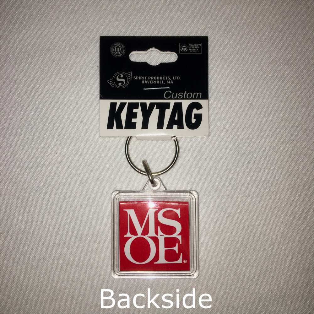 Image For KEY TAG SQUARE ACRYLIC
