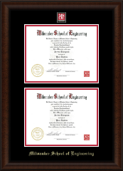 Image For DOUBLE DIPLOMA FRAME MSOE (LEXON)