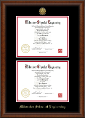 Image For DOUBLE DIPLOMA FRAME SEAL (AUSTIN)